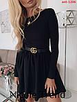 Трикотажна сукня з довгим рукавом, фото 3