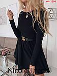 Трикотажна сукня з довгим рукавом, фото 4