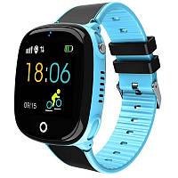 Детские смарт-часы Lemfo HW11 Aqua Plus с камерой и GPS отслеживанием (Синий)