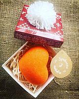 Подарунок коханій.Сердечко шипучка  для ванни Апельсин-Кориця в оригінальній коробочці!