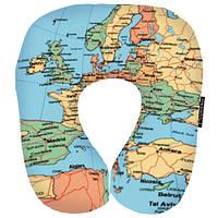 Дорожная подушка-подголовник Карта мира оригинальный подарок на Новый год