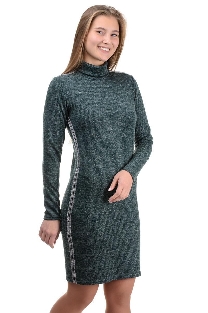 """Демисезонное платье """"Monika lurex"""" лампас (бутылочный)"""