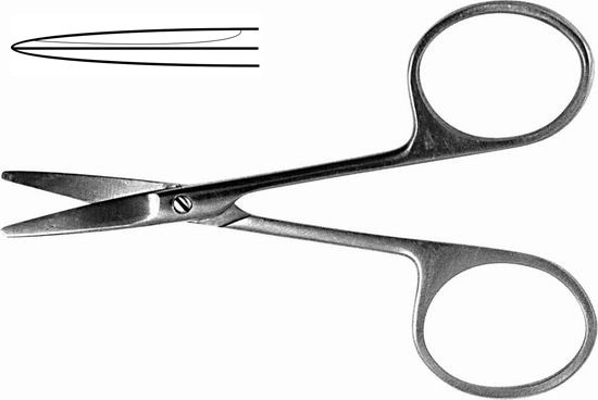 Н-20 Ножницы глазные тупоконечнные прямые 100мм