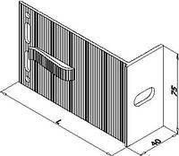 Кронштейн алюминиевый для навесного фасада 120х75х40