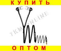 Вакуумные наушники Zipper Змейка с микрофоном, фото 1