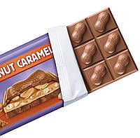 Milka Peanut Caramel Молочный шоколад с карамелью и арахисом, фото 2
