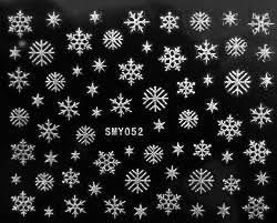Новогодний 3 D слайдер-дизайн для ногтей SMY052