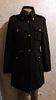 Пальто в стиле шинели цвета хаки