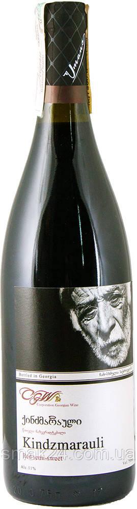 Вино Umano Кindzmarauli полусладкое красное 0.75 л 11% Грузия