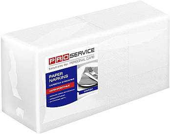 Салфетки 24х24 двухслойные белые PROservice Comfort 200 шт