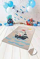"Ковер в детскую комнату ""Sailor gry"" 100x160 Chilai Home № 77-117"