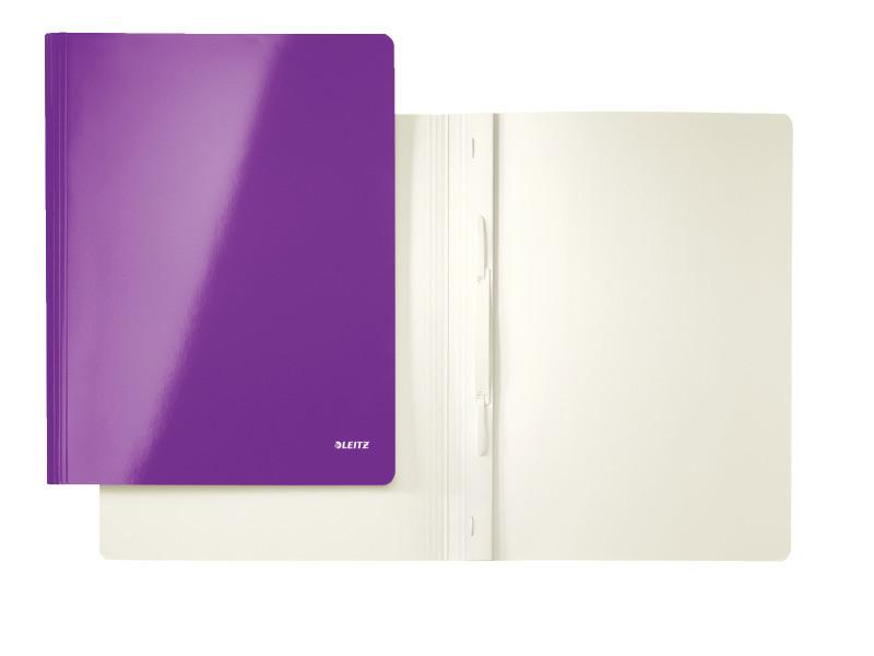 Скоросшиватель картонный Leitz WOW А4 на 250 листов фиолетовый