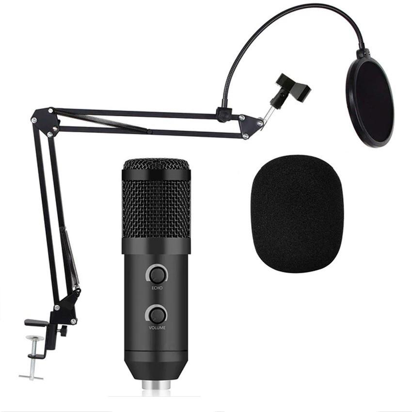 Микрофон студийный конденсаторный Music D.J. M-800U со стойкой и ветрозащитой Black