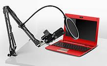 Микрофон студийный конденсаторный Music D.J. M-800U со стойкой и ветрозащитой Black, фото 3