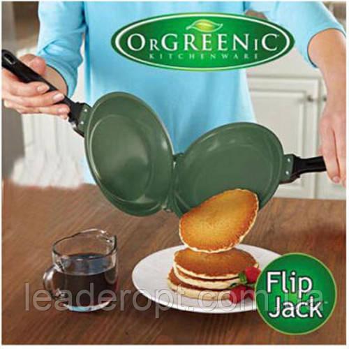 [ОПТ] Керамічна двостороння сковорода для млинців і панкейків Ceramic Non Stick Pancake Flip Maker Jack.