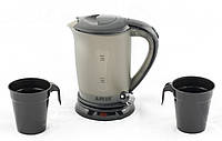 Чайник автомобильный, А-Плюс 0.5 л 12V, автомобильный электрический чайник, Черный, от прикуривателя