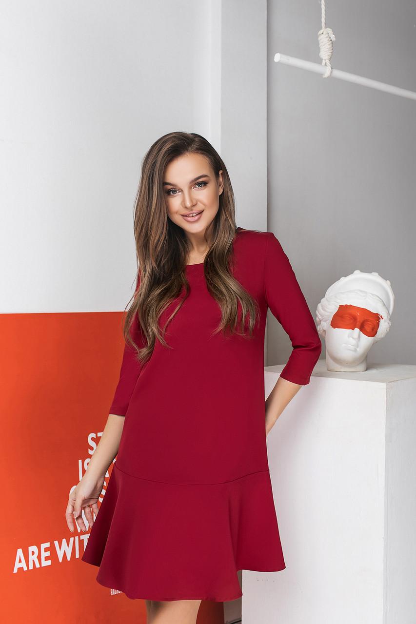 Платье LiLove 034-1 44 бордовый