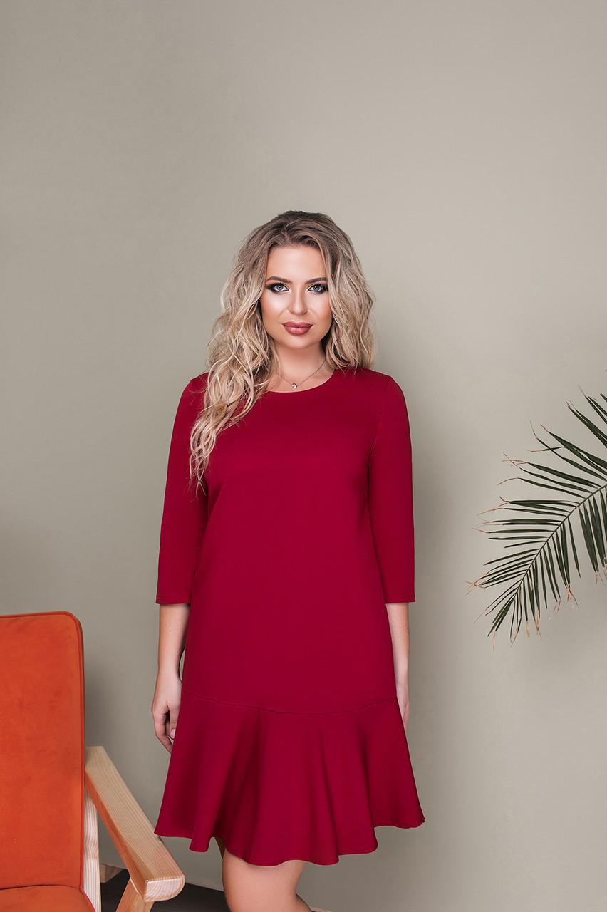 Платье LiLove 034-1 52 бордовый