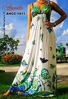 Сарафан, платье летнее светло-зелёное, M,L. длина 137 см.