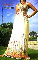 Платье летнее, сарафан светлый, M,L,1X. длина 137 см.
