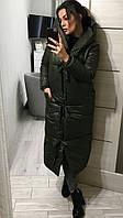 Теплое зимнее женское пальто-одеяло
