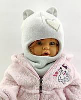 Оптом шапка шлем детская с 48 по 52 размер шапки ангора  люрекс головные уборы детские опт, фото 1