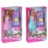 "Кукла 99028 ""Anlily"" с собачкой, 2 вида, в кор. 18-6-33см"