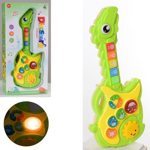 Игрушечная гитара для малышей CY-7034B музыкальный инструмент со звуковыми и световыми эффектами