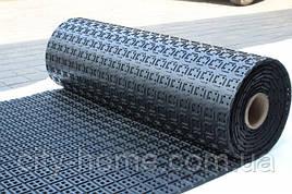 Килимок гумовий рулонний 150 х 900 х 1 см чорний
