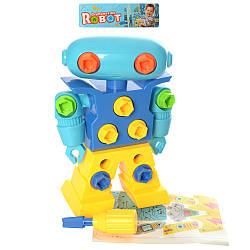 Конструктор 639F-19 (32шт) на шурупах, робот 21,5см, отвертка, в кульке, 21-28-8см