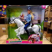 Кукла типа барби на лошади, серия кукол Дефа Defa с лошадью, 8420