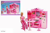 Игрушечная мебель для кукол кухня с барной стойкой Gloria 2616