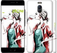 """Чехол на Meizu M6 Note Девушка с бокалом """"4662c-1108-4848"""""""