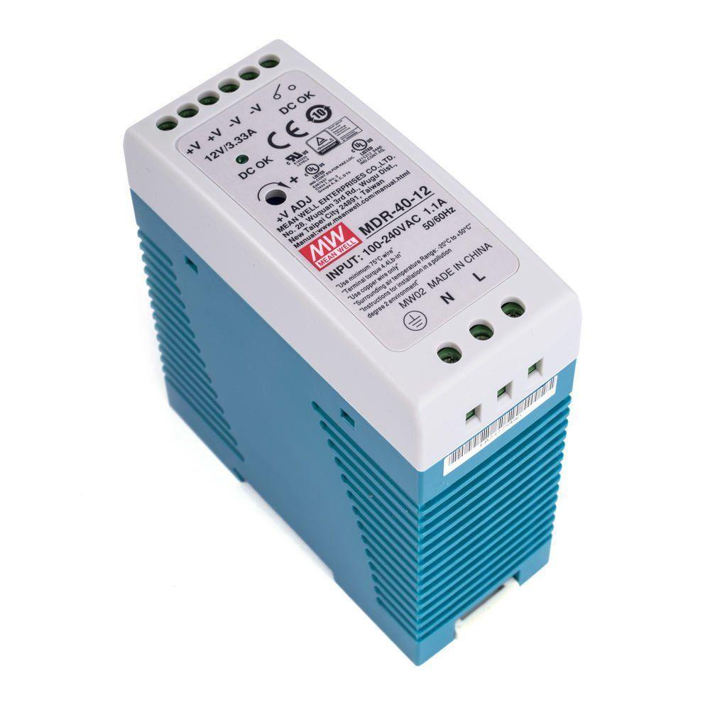 Блок живлення імпульсний Mean Well на DIN-рейку 40W 12V (IP20, 3,33 A) PRO
