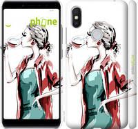 """Чехол на Xiaomi Redmi S2 Девушка с бокалом """"4662c-1494-4848"""""""