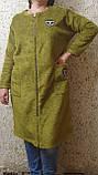 Пальто - кардиган болотного кольору, фото 5