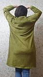 Пальто - кардиган болотного кольору, фото 6