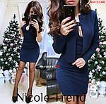 Жіночий костюм сукня+піджак, фото 4