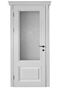 Двери межкомнатные деревянные, с массива ясеня, дуба, ольхи. Мод. 1202