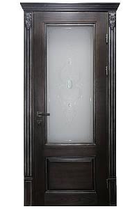 Двери межкомнатные деревянные, с массива ясеня, дуба, ольхи. Мод. 1203