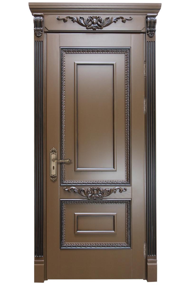 Двери межкомнатные деревянные, с массива ясеня, дуба, ольхи. Мод. 1207