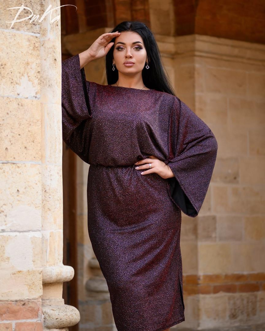 Красивое женское платье миди нарядное