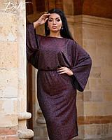 Красивое женское платье миди нарядное, фото 1
