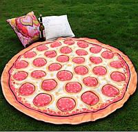 Пляжное покрывало Пица, 145 х 145 см.