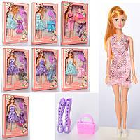 Кукла шарнирная, платье, аксессуары, микс видов, 1033-002-005