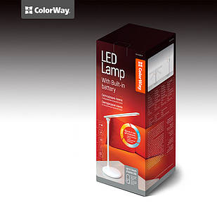 Настольная LED лампа со встроенным аккумулятором (белая) ColorWay