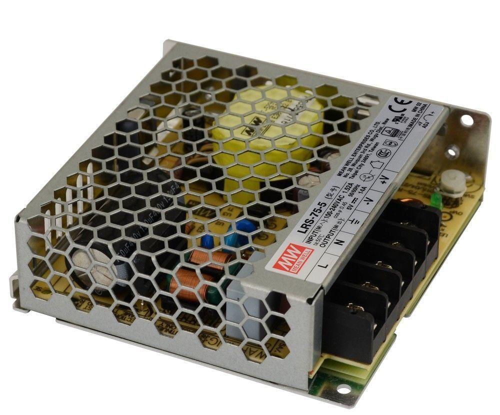 Блок питания импульсный Mean Well 70W 5V (IP20, 14A) PRO