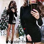 Оксамитова міні-сукня, фото 3