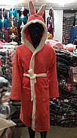 Детский махровый халат с капюшоном и ушками 4,6,8,10 лет, фото 1