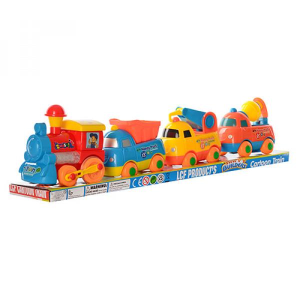 Набор транспорта паровозик с вагончиками,муз